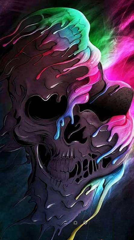 Neon Skull Skull Wallpaper Iphone Skull Wallpaper Skull Art Cool color skull wallpaper