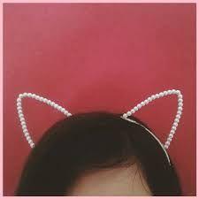 Resultado de imagem para imagens de tiara de perola de gatinho