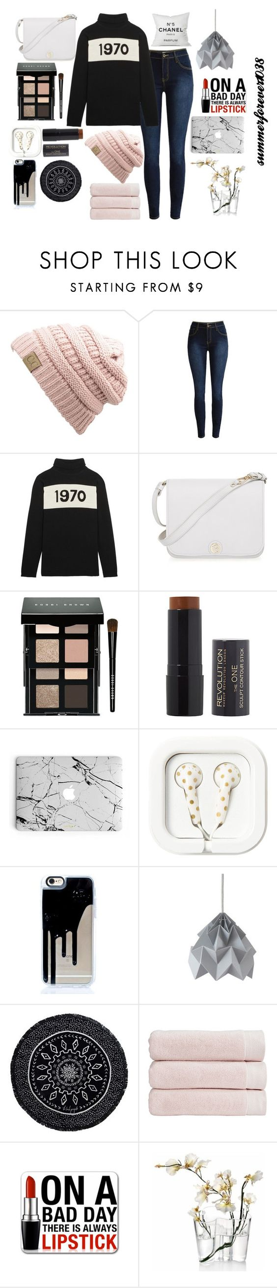 """""""Untitled #18"""" by summerforever1038 ❤ liked on Polyvore featuring Bella Freud, Furla, Bobbi Brown Cosmetics, The Beach People, Christy, iittala and Chanel"""