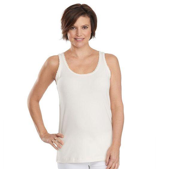 Women's Woolrich Huckleberry Hills Lace-Trim Tank, Size: