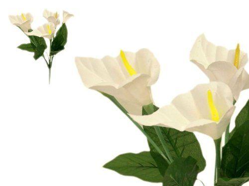 84 Silk Calla Lily Flowers for Wedding Bouquets - Ivory by BalsaCircle, http://www.amazon.com/dp/B008ENB8WY/ref=cm_sw_r_pi_dp_-Vnjsb1K8TRDD