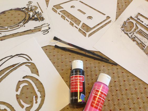 Use acrylic to stencil your own onsies