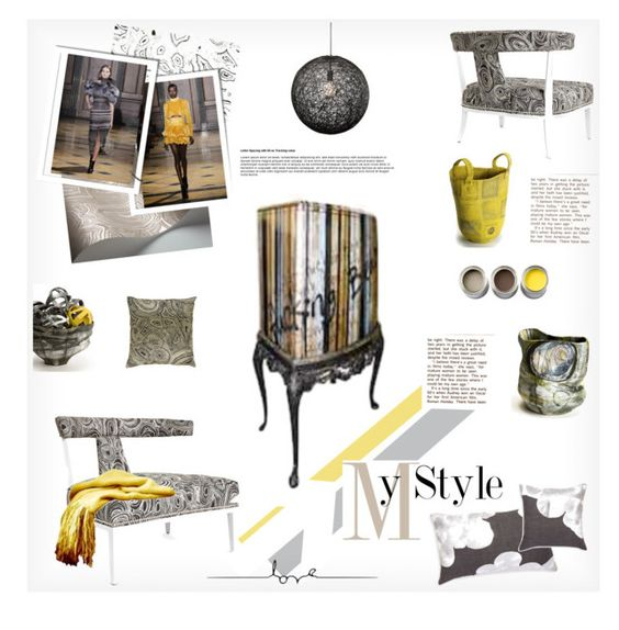 """""""Runaways to Home Decor"""" by fl4u ❤ liked on Polyvore featuring interior, interiors, interior design, home, home decor, interior decorating, Jonathan Adler, Nuevo, Fornasetti and Fasionshow"""
