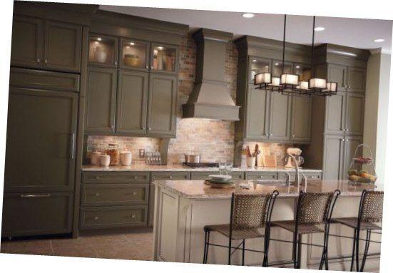 dark green painted kitchen cabinets. Wonderful Merillat Kitchen Cabinets Dark Olive Green  Color Designs Pinterest Kitchens breakfast