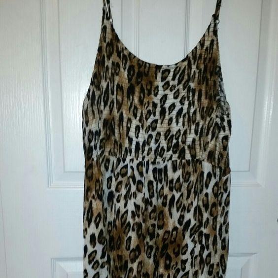 Leopard Dress, Size 18 (Tag reads 3X) Leopard Dress, Size 18 (Tag reads 3X) Dresses Mini