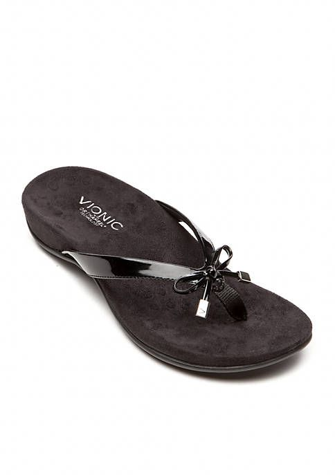 Bella Ii Flip Flops Flip Flop Sandals Vionic Most Comfortable