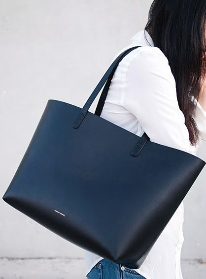 We're obsessing over this black Mansur Gavriel bag. #shopstyle