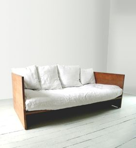 MC+CO wood sofa.