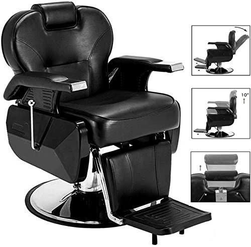 New Paddie Barber Chair Salon Styling Chair Hydraulic Reclining All Purpose Heavy Duty Swivel For Hair In 2020 Best Makeup Products Makeup Chair Salon Styling Chairs