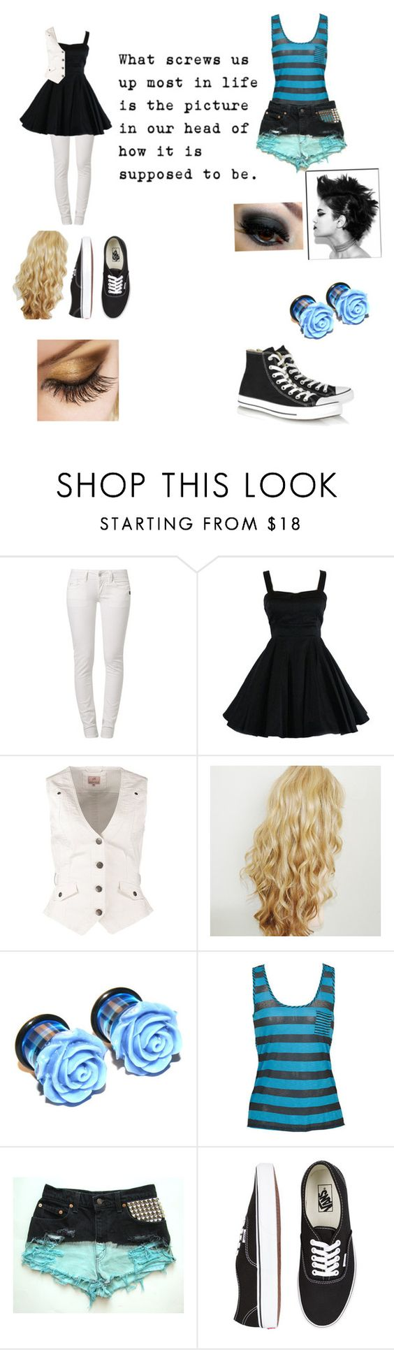 """""""Untitled #109"""" by timmyfreakingturner ❤ liked on Polyvore featuring G-Star, Anna Field, Vans and Converse"""