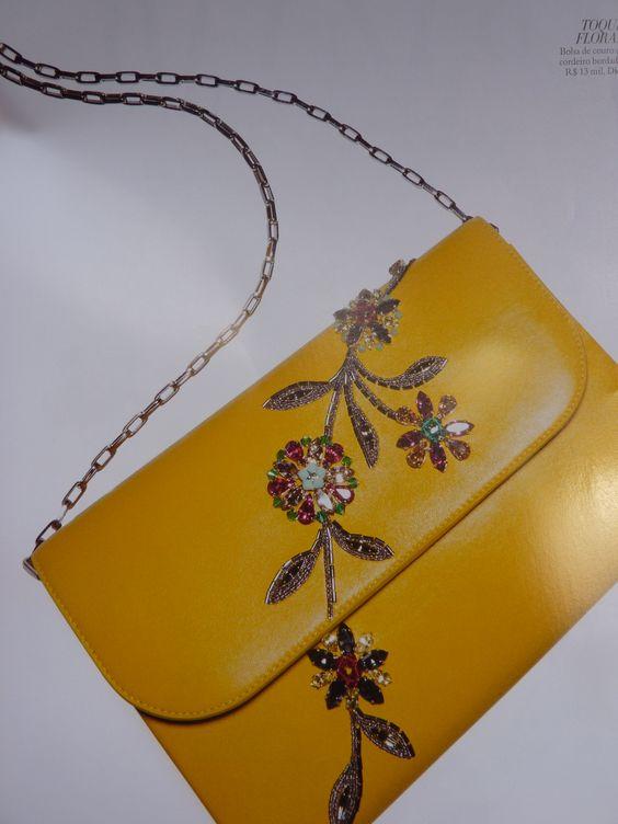 Dior- de couro e cordeiro bordado floral