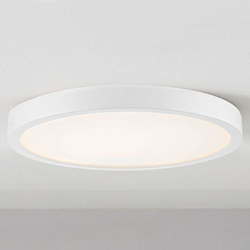 Flat Led Light Surface Mount 10 Inch Round White 2700k 1511lm In