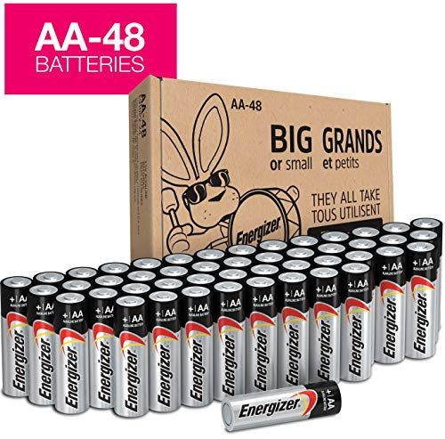Energizer Aa Batteries Double A Battery Max Alkaline 48 Count E91dp2 24 Energizer Energizer Battery Alkaline Battery