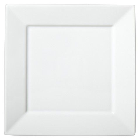 Threshold™ Square Rim Dinner Plate Set of 4 - White