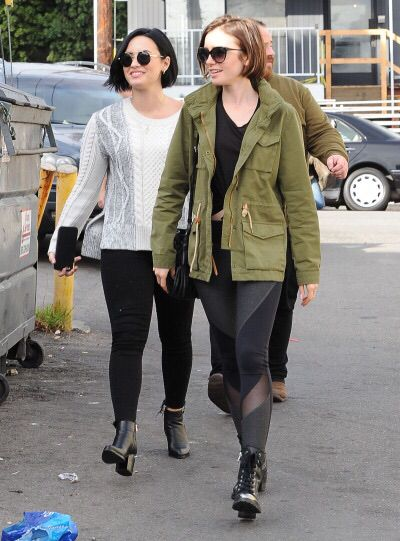 Demi Lovato and Lily Collins Out & About in West Hollywood - January 27th