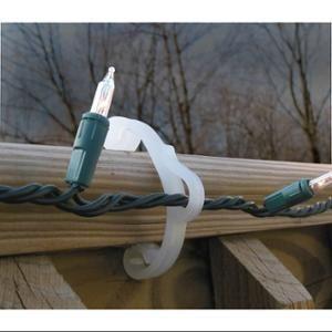 Hooks deck railings and decks on pinterest for Exterior christmas light clips