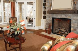 Direct Vent Natural Gas Fireplace with Command Controls has everything you need to get a realistic fire without any of the hassle of a wood-burning fireplace. www.elitedeals.com $4130.10