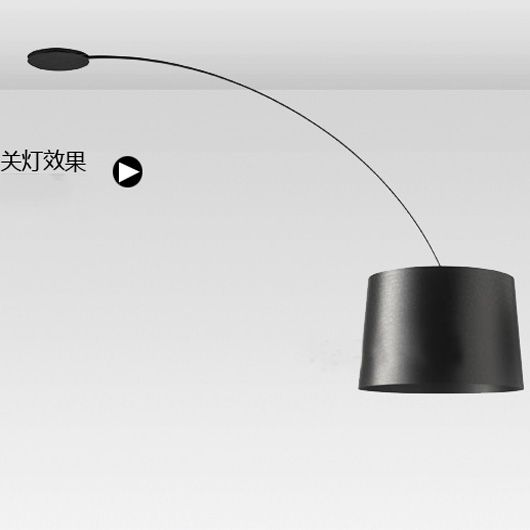 Moderne, minimalistische fischen zarten Triebe bogenlampe - moderne deckenleuchte wohnzimmer