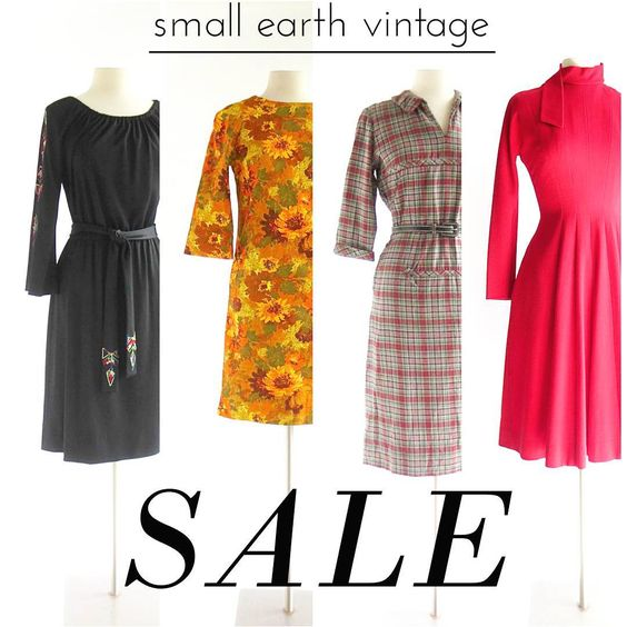 It's our 7th anniversary of opening the Etsy shop, and the whole store is marked down 20% until Monday, November 2, 2015!  // https://www.etsy.com/shop/SmallEarthVintage