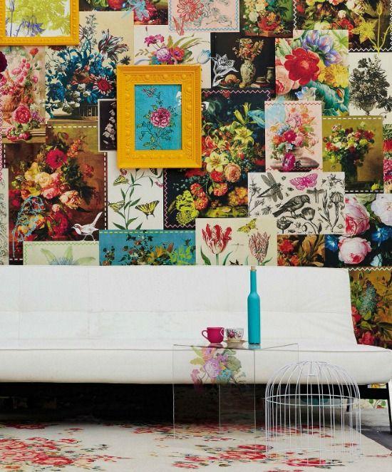 bloemen-behang-muur