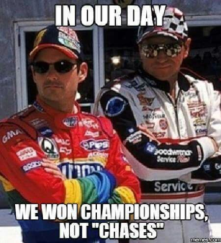 Yes! Gordon would have 7 championships if NASCAR didn't make the stupid Chase!