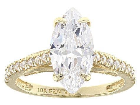 Enjoy Exceptional Value And Unbeatable Prices Explore This White Cubic Zirconia 10k Yellow Gold Ring 4 62ctw From Jtv Today Gold Rings Clearance Jewelry