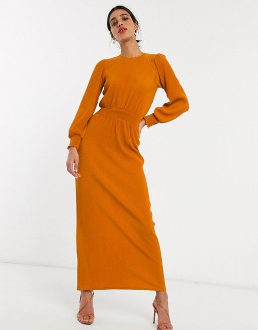 48+ Asos design high neck rib maxi dress with long sleeves ideas in 2021