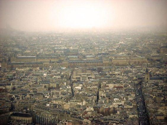 PARIS - Louvre visto da Torre Montparnasse