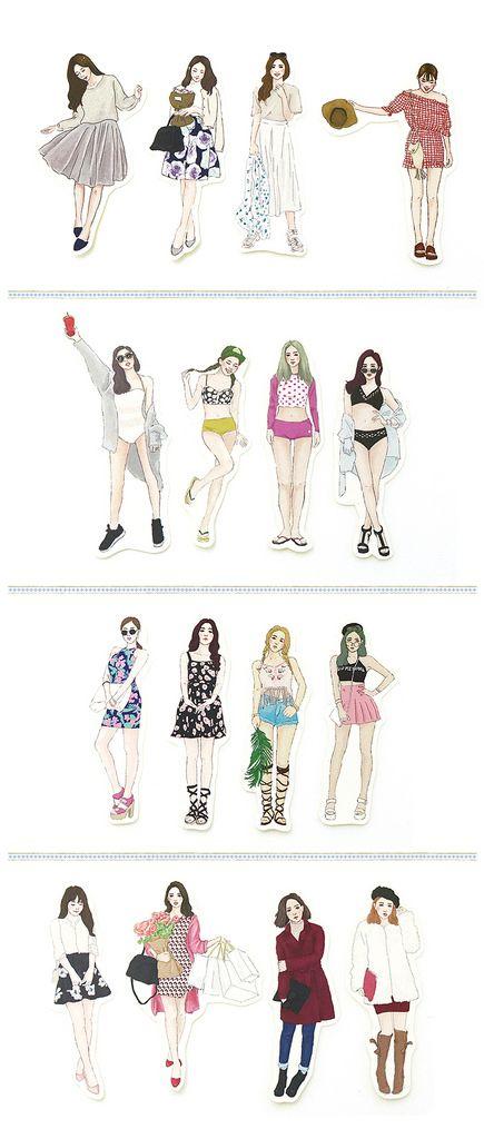 Princess hyun sweet girl into sticker set 16 seasons - Bon Bon Stickers | Pinkoi