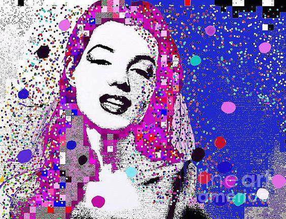 Marilyn Monroe Abstract Portrait:SaundraMylesart