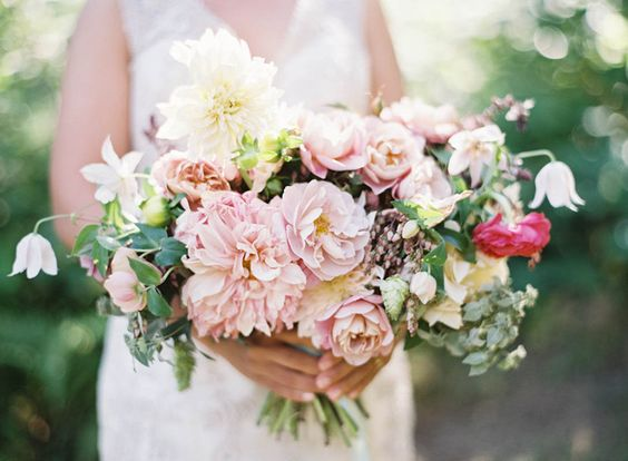 Family Farm Wedding in Vermont: Spring Bouquet, Flowers Wedding, Floral Bouquets, Wedding Floral, Bouquets Pink, Bouquets Farm