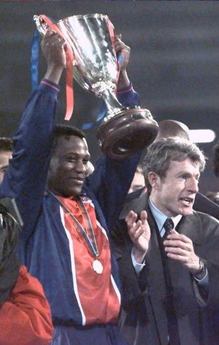 Bruno N'Gotty 1995-1996 coupe d'Europe des vainqueurs de coupes