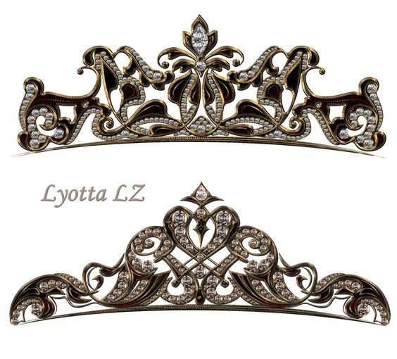 tiara de jóias real por Lyotta