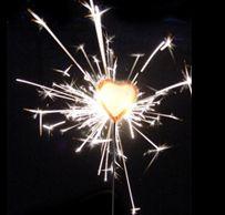 heart shaped sparklers....i like!
