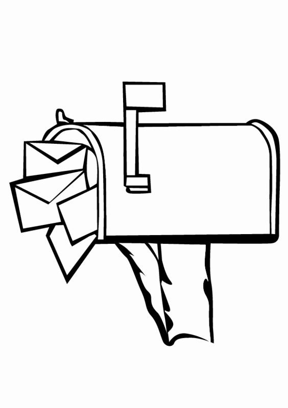 Free Coloring Books By Mail Unique Mailbox Coloring Page Mailbox