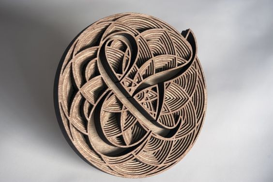 This guy's work is so beautiful; I would love one of these on the wall in my writing cave.   The artist: Gabriel Schama creates 3D work using techniques that allow him to play with rhythm and texture. He works with laser-cut wood in his monochromatic pieces and hand-cut, layered paper in his colorful ones.   https://www.facebook.com/GabrielAHSchama/