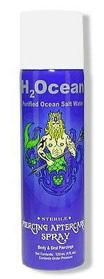 H2Ocean Purified Ocean Saltwater Piercing Aftercare Spray - 4oz Can