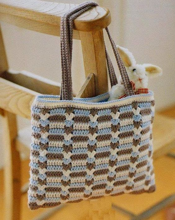 Crochet Bag Drawstring Pattern : Crochet Bag - Free Crochet Diagram - (easy-crochet ...