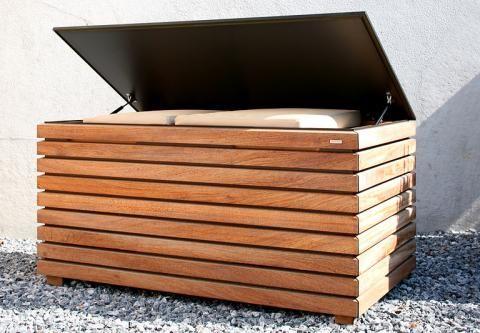 Gartenmobel Aus Holz Schoner Wohnen Kissentruhe Sitzbank Mit Stauraum Aufbewahrung Garten