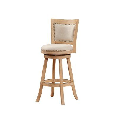Greyleigh Guilford Bar Counter Swivel Stool Color Cream Wire