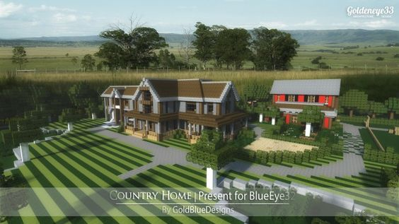 Country Home Ranch House Farm Minecraft Building Ideas 2