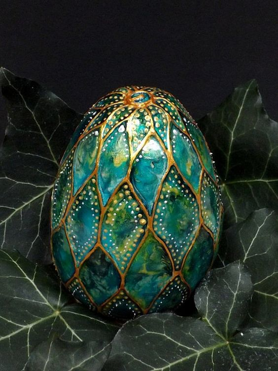 Dragon Egg Water Dragon ceramic egg by TheFairyPotter on Etsy: