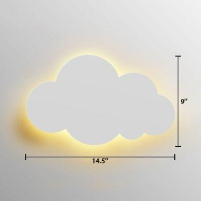Plastic Led Wall Light Sconce With Cloud Nordic Style White Wall Iluminacion De Pared Apliques De Pared Lamparas De Pared