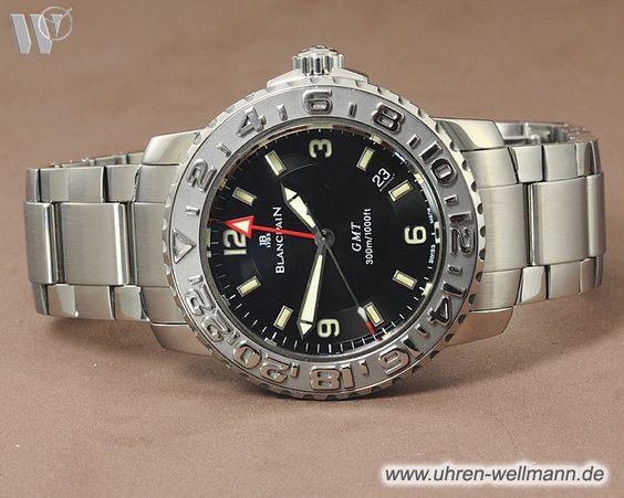 Blancpain Fifty Fathoms GMT, Referenznummer: 22500113071, Herrenuhr, 2. Zeitzone, Gehäusematerial: Stahl (3762) -- www.uhren-wellmann.de --