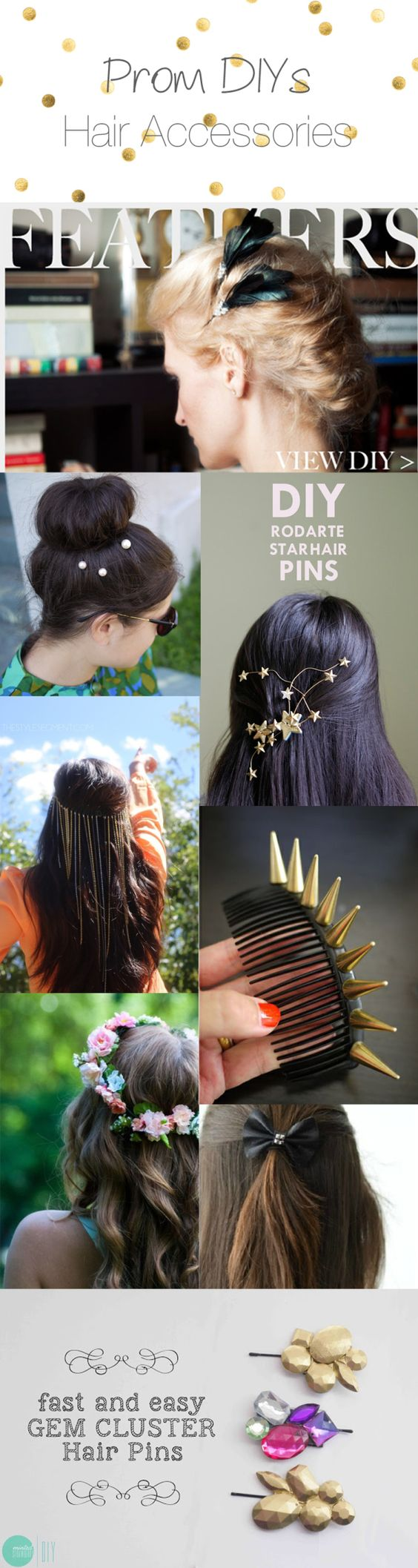 DIY Prom Accessories -- Tons of super-cute ideas. From boho babe to punk princess.: