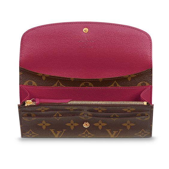 emilie wallet monogram canvas small leather goods. Black Bedroom Furniture Sets. Home Design Ideas