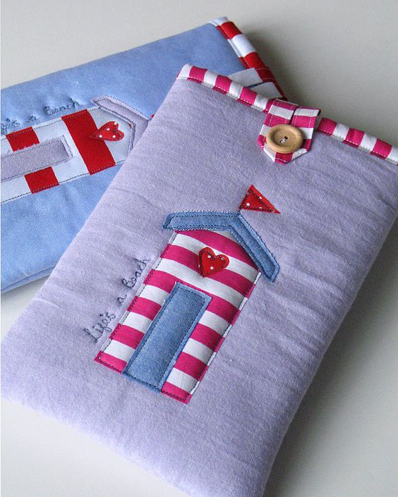 Beach Hut Kindle Cosies  by The Apple Cottage Company