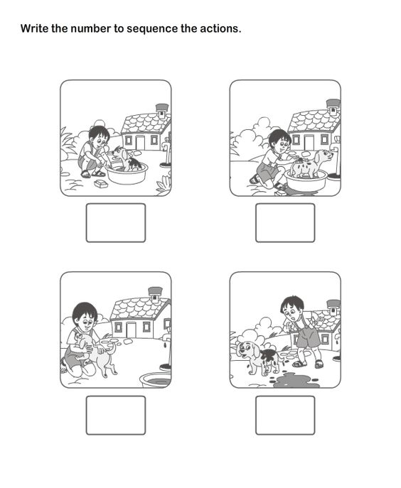 Picture Sequence Worksheet 18 eslefl Worksheets kindergarten – Sequencing Worksheet for Kindergarten