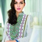 Alkaram studio offers latest Embroidered Collection 2014 with Block Printing