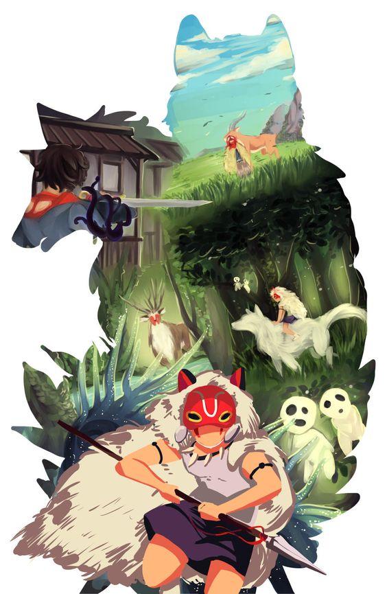 もののけ姫の犬の切り取り画像